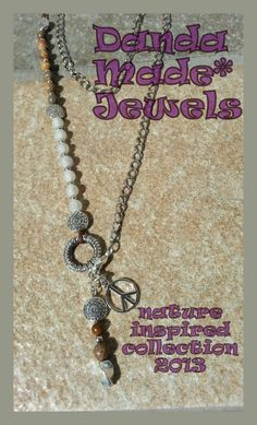 Jasper & Agate gemstones handmade necklace www.facebook.com/dandamade