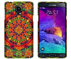 "myLife Red + Yellow + Green Circular Floral Mosaic {Artistic, Imaginative, Ethnic, Trance} 2 Piece Snap-On Rubberized Protective Faceplate Case for the Samsung Galaxy Note 4 ""All Ports Accessible"" myLife Brand Products http://www.amazon.com/dp/B00U4CH55C/ref=cm_sw_r_pi_dp_5Eyhvb0J8CJ1Z"