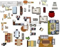 Image result for furniture plan view