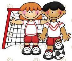 imagen de niños haciendo deporte para imprimir; Imagen de niños en la porteria de futbol