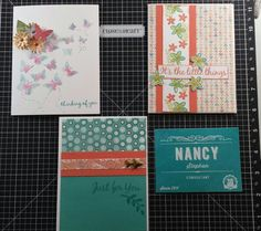 Cards made with CTMH's Chalk It Up and November SOTM. The butterfly card is not.