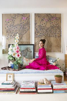 When I stumbled across these shots of Rebecca de Ravenel from C Magazine I simply had to share. The designer's colorful space and bohemian style never fail to inspire (clearly, I need a zebra…