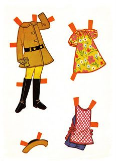 Playhouse Dolly - Jo - girl paper doll - black / African-American / person of color