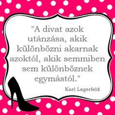 A divat azok utánzása, akik különbözni akarnak azoktól, akik semmiben sem különböznek egymástól. Lany, Karl Lagerfeld, Funny Quotes, Humor, Sunglasses, Words, Birthday, Funny Things, Happiness