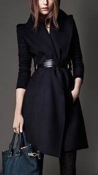 Burberry London  - Wide Lapel Belted Coat