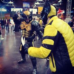 Love this shot of me as @wolversteve9 both as #TheWolverine at #MCMBirmingham #comiccon on Sunday #mcmbhm16  #wolverine #wolverinecosplay #wolverinecosplayer #wolverinecosplayers #cosplay #cosplayer #cosplayers #cosplaying #marvel #xmen #comicbookwolverine