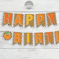 "INSTANT DOWNLOAD Printable ""Happy Birthday"" - Banner Fall ..."