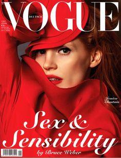 Jessica Chastain na capa da ''Vogue'' alemã de janeiro de 2013