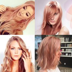 best rose gold hair color | This is the truest form of rose gold hair color. Peachy pink with a ...