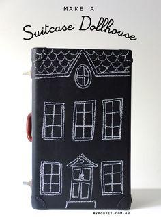 FleaingFrance Brocante Society Vintage suitcase dollhouse upcycle  mypoppet.com.au