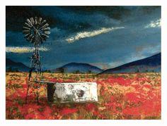 Colesburg-Landscape-Acrylic on board