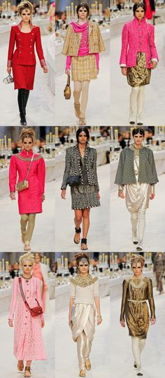 I really do love Indian color and texture, in this inspired Chanel colection
