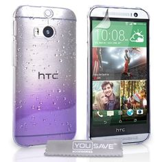 Yousave Accessories The New HTC One M8 (2014) Case Purple / Clear Raindrop Hard Cover, http://www.amazon.ca/dp/B00JAC38XK/ref=cm_sw_r_pi_awdl_kcG.tb0TZXPVF