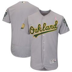 2e793701ee8 Men s Oakland Athletics Majestic Gray 2018 Mother s Day Road Flex Base Team  Jersey