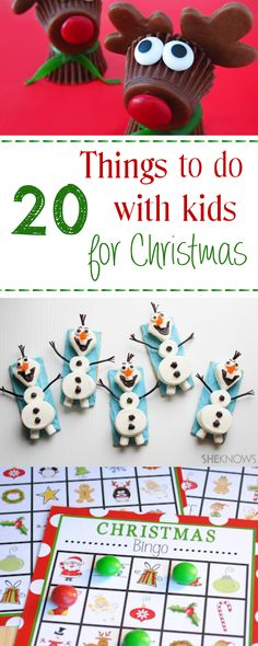 Christmas DIY: Illustration Description 20 Fun Christmas Activities for Kids-Games, Treats and Crafts Decoration Christmas, Noel Christmas, Christmas Games, Christmas Crafts For Kids, Christmas Goodies, Christmas Projects, Christmas Treats, Winter Christmas, Holiday Crafts