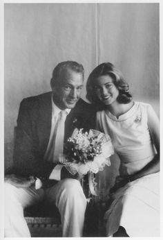 Gary Cooper & his daughter, Maria