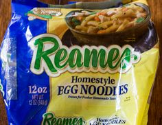 Reames frozen egg noodles-thick egg noodles to use for beef and noodles recipe