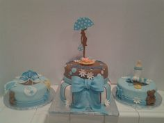 Baby Shower Baby Shower Cakes For Boys, Baby Boy Cakes, Baby Gender, Baby On The Way, Baby Party, Holidays And Events, Baby Shower Decorations, Amazing Cakes, Baby Items