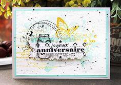 DT Scrapatalie et Scraposphère : carte d'anniversaire #card #scrapbook #shannon91