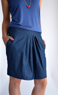 "Jeansrock ""Medusa"" blau,Jeans,Tulpenrock,denim von Friederike Zobel Modedesign - maßgeschneiderte Lieblingsstücke auf DaWanda.com"