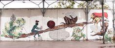 Da un muro di Roma (ex Snia). #streetart by Ericailcane