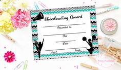 Free printable cheerleading name tags each name tag features a pink cheerleading certificate cheerleading award cheerleading diy cheerleading printable cheerleading achievement end of season award yelopaper Gallery