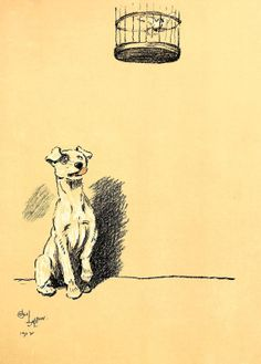Cecil Aldin  A Dog Day Illustration from by VandRVintagePrints, £3.99