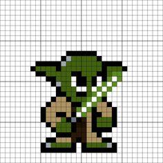 Yoda Perler Bead Pattern