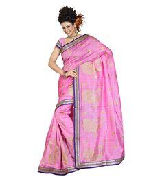 Pink Bhagalpuri Saree With Blouse 60064