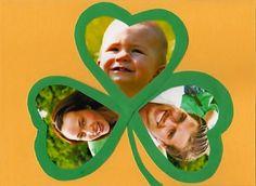 Muttertag Grusskarte mit Kleeblatt
