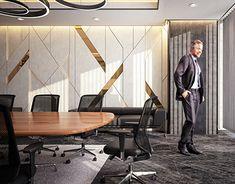 CEO Office – El Hamra Tower – Kuwait City on Behance – Luxury Office Designs Office Cabin Design, Office Reception Design, Modern Office Design, Office Interior Design, Home Interior, Interior Architecture, Ceo Office, Luxury Office, Office Meeting