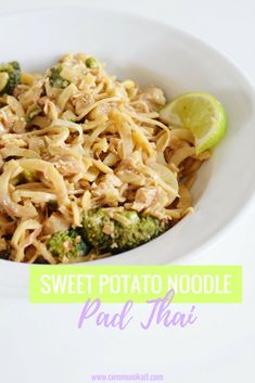 Sweet Potato Noodle Pad Thai - A delicious twist on traditional Pad Thai, these sweet potato noodles are equal parts tasty and easy!