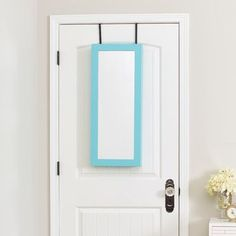Mirror jewelry armoire do it yourself home projects from ana space saver over the door jewelry armoire with mirror finish turquoise http solutioingenieria Gallery