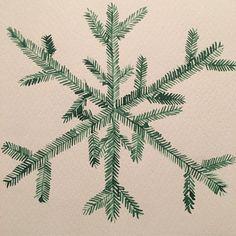 #watercolor #snowflake #christmas #watercolorart #watercolorpainting #forest