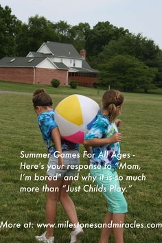 Fresh ideas for summer play plus why simple games matter for your child. Duck, Duck, Goose anyone?  http://milestonesandmiracles.com/2014/06/04/when-duck-duck-goose-is-more-than-a-game-my-recess-observations/