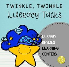 """Here's a center featuring the fun nursery rhyme poem """"Twinkle, Twinkle, Little Star,"""" plus numerous literacy tasks to support your students! This product is part of a GROWING bundle featuring favorite fingerplay poems and nursery rhymes!"""