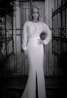 Yaki Ravid's Bridal Couture Line Fancy Wedding Dresses, Bridal Dresses, Girls Dresses, Glamorous Wedding, Dream Wedding, Bridal Collection, Evening Gowns, Wedding Styles, Marie