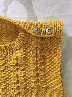 Opskrift strikket vest - eget design
