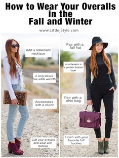 How to Wear Your Overalls in the Fall and Winter | www.LittleJStyle.com