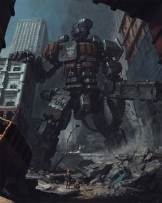 robot in the ruins