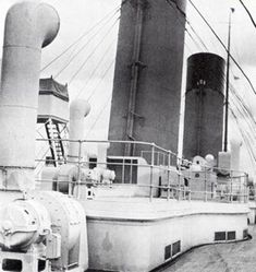 The Titanic's third and fourth funnels