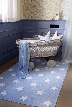 Lorena Canals – vloerkleed kinderkamer Stars cotton blue