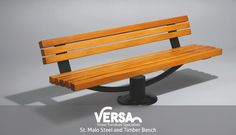 The St.Malo is a statement piece #bench that fits perfect with any urban and rural street scenes. Find this product here: http://versauk.co.uk/Seating/Timber-&-Steel.html