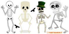 Sagome di scheletri da stampare e ritagliare