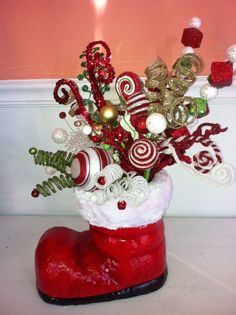 Christmas Boot Centerpiece