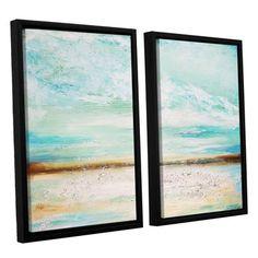 ArtWall Desert Sky by Jolina Anthony 2 Piece Framed Painting Print on Canvas Set