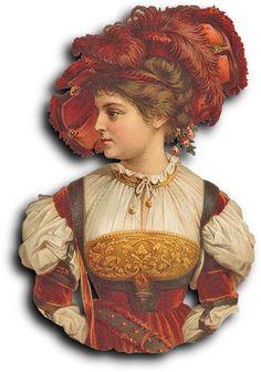 Victorian scrap: Woman by Antique Photo Album, via Flickr