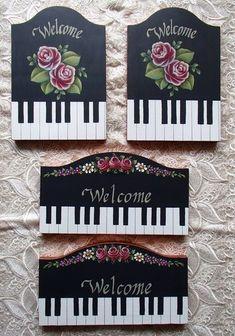 トールペイント decorative painting pintura decorativa piano ピアノ #pinturadecorativa