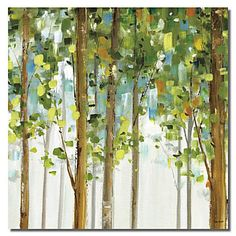 Stretched Canvas Art Botanical Green Leaves – USD $ 24.99