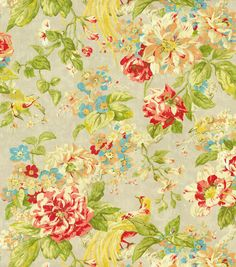 Waverly Upholstery Fabric Floral Engagement Poppy Home Decor
